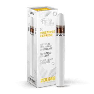 The Green Dragon CBD Offers Funky Farms Pineapple Express Vape Pen 200mg. Made with 200mg Broad Spectrum Crystal Resistant Distillate and delicious, natural flavors. This 1/3 milliliter vape pen is disposable and ready for use!