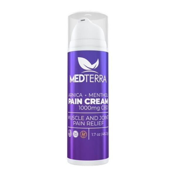 The Green Dragon CBD offers Medterra Pain Cream. 1.7 ounces of fast-acting cream containing menthol to immediately soothe pain and 1000mg of CBD to keep the pain away. An easy dispense pump makes application a breeze and is perfect for anyone on-the-go.