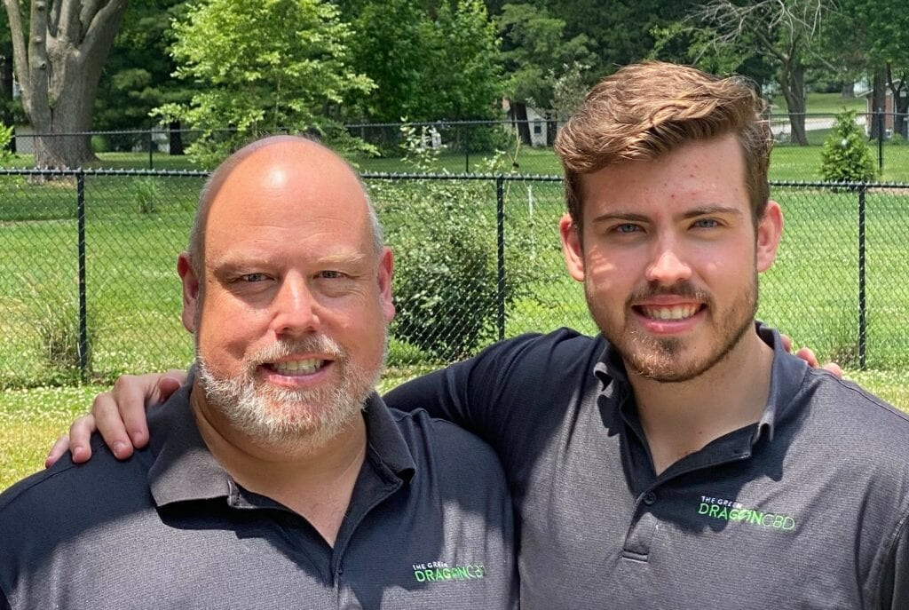 Owners, Father and Son, of The Green Dragon CBD in St. Louis, Missouri.