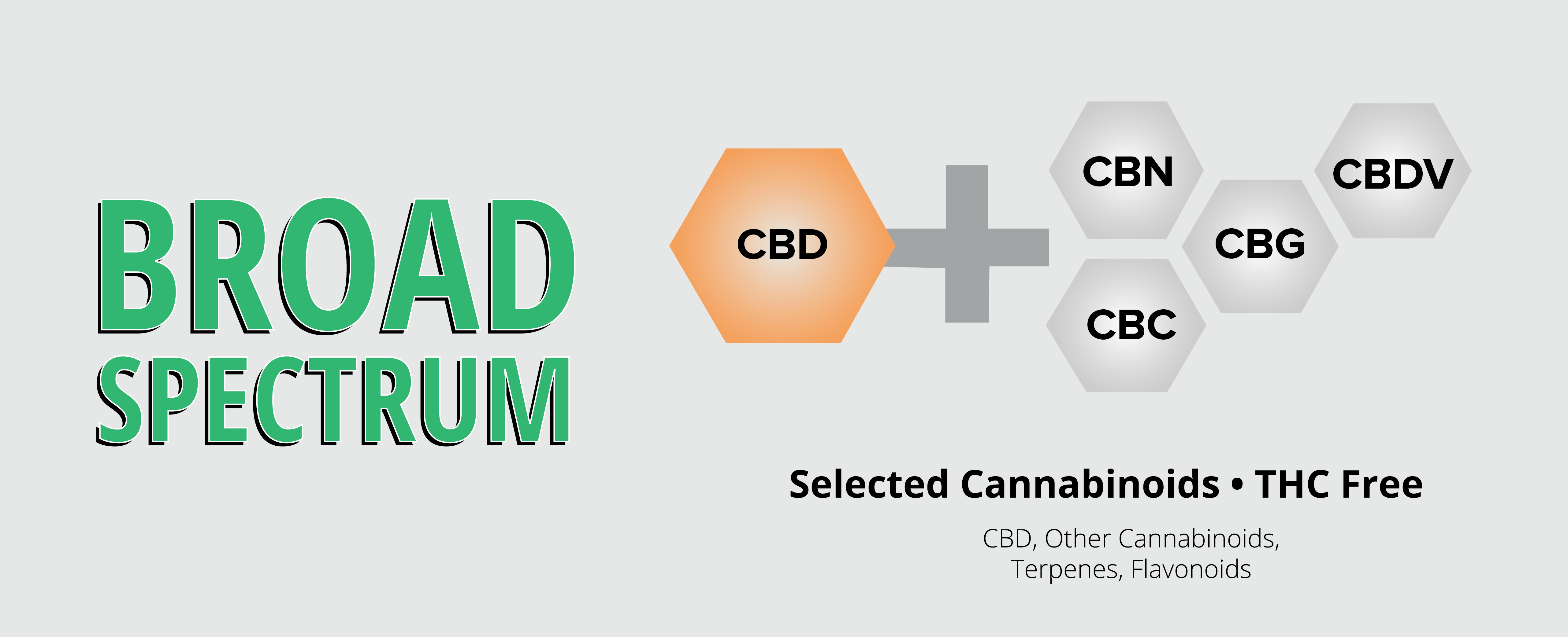 Broad Spectrum Informational Chart with Cannabinoids