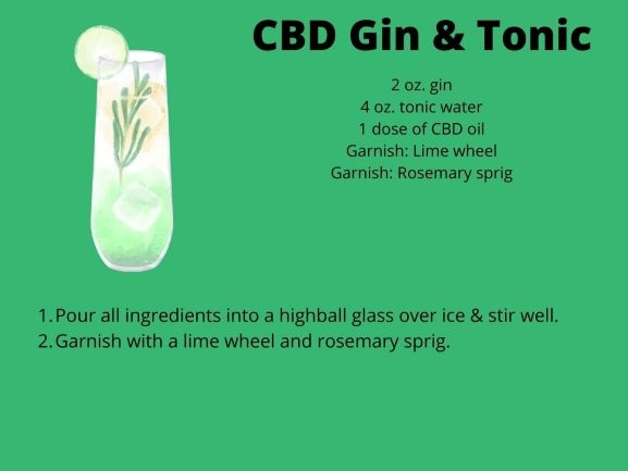 recipe for gin and tonic with cbd