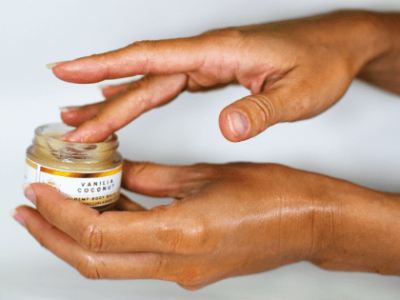 Woman applying CBD Salve